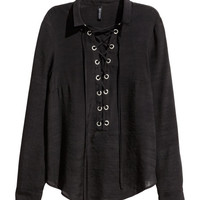 Shirt with Lacing - from H&M