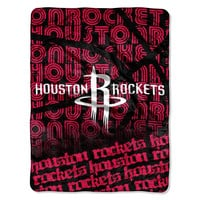 Houston Rockets NBA Micro Raschel Blanket (Redux Series) (46in x 60in)