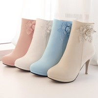 Ankle High Multi Colors Winter Fashion Boots