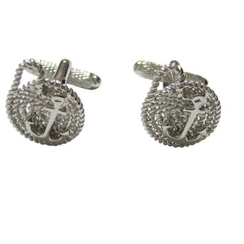 Nautical Rope and Anchor Cufflinks