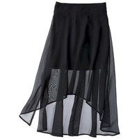 D-Signed Girls' High-Low Skirt - Black