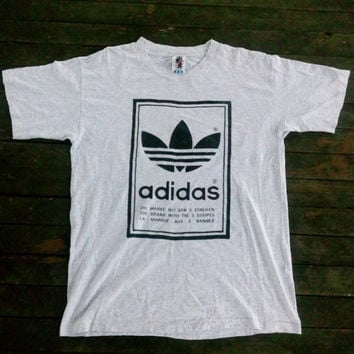 Adidas big logo 3 stripes Trefoil hop swag Mirror design Tee tshirt