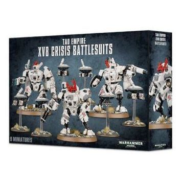 Games Workshop Warhammer 40k 56-07 Tau Empire XV8 Crisis Battlesuits Team NIB