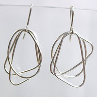 Orbit Series: Small, Sterling Silver Earrings - jewelry