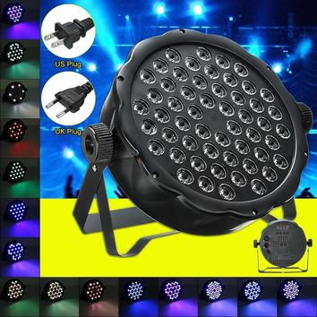 162W 54LED Sound Actived LED Stage Light DMX Control RGBW PAR 64 Outdoor DJ Disco Club Stage Show Effect Lighting IP65 100V-240V