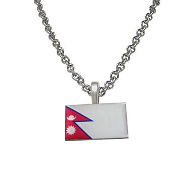 Nepal Flag Pendant Necklace