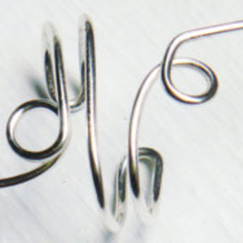 Ear Cuff Silver Double Ear Wrap by MaggieMadeWithLove on Etsy