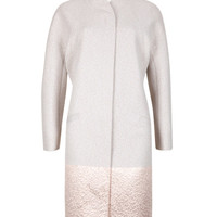 Jacquard cocoon coat - Natural | Jackets & Coats | Ted Baker UK