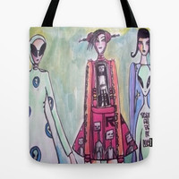 alien Tote Bag by helendeer