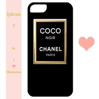 Iphone 5 Case - Chanel Coco Noir - Perfume - Iphone 5 case, Iphone 5 cover
