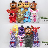25cm Five Nights At Freddy's Plush FNAF Nightmare Freddy Fazbear Foxy bonnie cupcake Plush Toys Soft Doll fnaf Sister Location