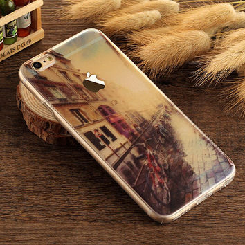 Old Street Case TPU Cover for iphone 7 7 Plus & iphone 6 6s Plus & iphone se 5s + Gift Box