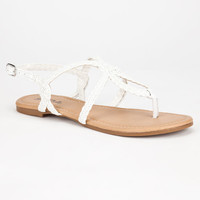 Soda Durham Womens Sandals White  In Sizes