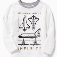 """""""Imagination Is Infinite"""" Tee for Toddler Boys