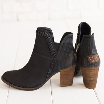 Weston Leather Booties (Black)