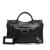 Balenciaga Classic Metallic Edge City Black - Women's Top Handle Bag