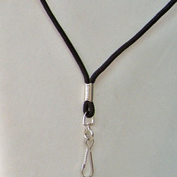 NEW...36 Inch Simple Black Lanyard made of a cord-like material with hook, suitable for attaching any of the Mini LED Flashlights