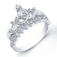 925 Sterling Silver Crown Ring / Princess Ring: Jewelry: Amazon.com