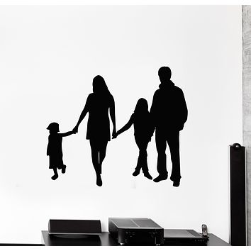 Vinyl Wall Decal Big Family Event Husband Wife Children Stickers Mural (g2730)