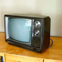Vintage Zenith black and white television