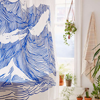 Kym Fulmer Crashing Waves Shower Curtain - Urban Outfitters