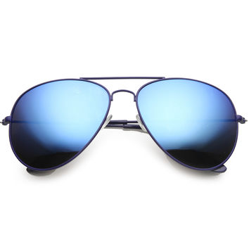 Retro Color Coated Mirror Lens Oversize Aviator Sunglasses 9761