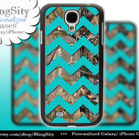 Camo Aqua Chevron Galaxy S4 case S5 Real Tree Camo Deer Personalized Monogram Samsung Galaxy S3 Case Note 2 3 Cover