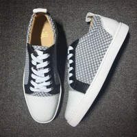 DCCK Cl Christian Louboutin Low Style #2009 Sneakers Fashion Shoes