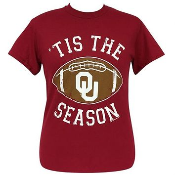 Oklahoma Sooners Preppy Tis the Season T-Shirt