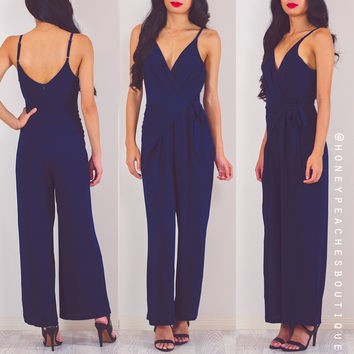 Everything You Want Jumpsuit - Navy