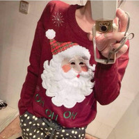 Autumn Winter Round Neck Women Pullovers 2016 New Design Christmas Sweater Female Clothesr Casual Women's Clothing ML0012