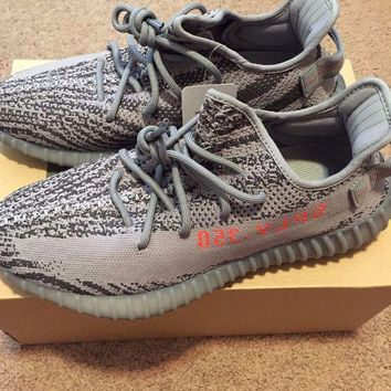 DCCK ADIDAS YEEZY BOOST 350 V2 GREY ORANGE 'BELUGA 2.0' Size 10.5 Mens