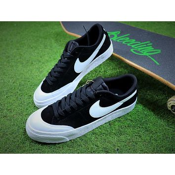 New Nike Blazer Sb Black White Plate Shoes - Sale