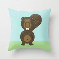 Bucky Throw Pillow by Oomlöts by Arthur V. Commere | Society6
