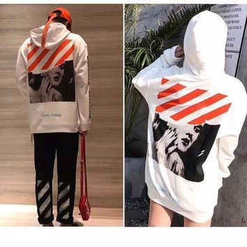 Off White X  Marilyn Monroe Hooded Unisex Hoodie