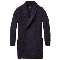 Purple Cardigan Overcoat