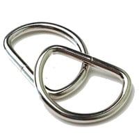 "30 - 1"" Metal Welded D-Ring - Nickel"
