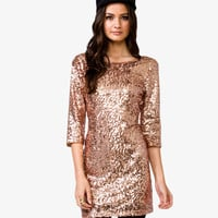 V-Back Sequined Dress
