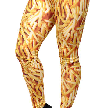 French Fries Leggings Design 570