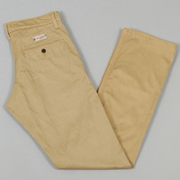 left field - work chino 10oz khaki japanese military twill