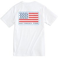 Skipjack United Tee Shirt in Classic White by Southern Tide - FINAL SALE
