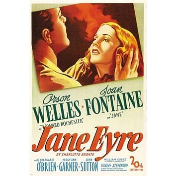 ORSON WELLES joan fontaine JANE EYRE vintage movie poster 24X36 CLASSIC
