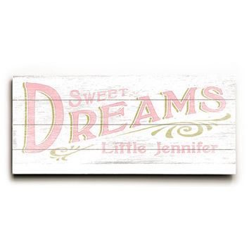 Personalized Baby Girl Sweet Dreams Wood Sign