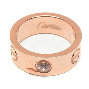 Cartier Woman Fashion LOVE Diamond Plated Ring For Best Gift-2