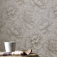 Flourish Cream Wallpaper - Graham and Brown
