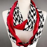 Scarves by Justbella's Houndstooth Infinity Scarf