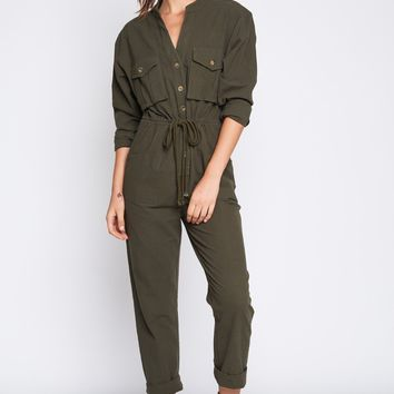 Steam Funk Jumpsuit in Olive
