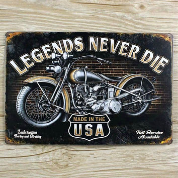 Motorcycle iron painting Metal Tin sign Retro plate Vintage plaque wall art decor cafe bar home 20*30 CM free shipping YT-00402