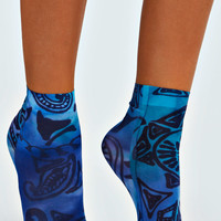 Yazz Tribal Print Ankle Socks