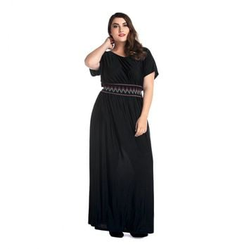 Plus Size Empire Waist Maxi Dress for Women